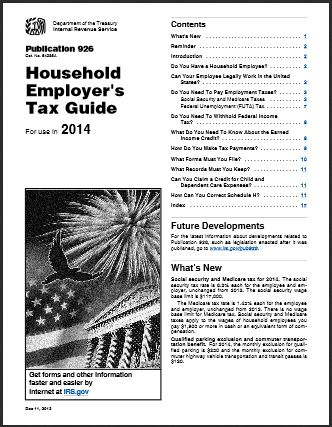 IRS Publication 926 for 2014